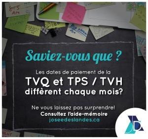 Remises de taxes TVQ et TPS/TVH